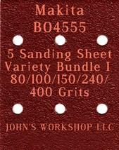 Makita BO4555 - 80/100/150/240/400 Grits - 5 Sandpaper Variety Bundle I - $7.53