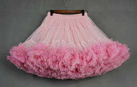 Women Girl Tiered Tutu Skirt Outfit Plus Size Puffy Party Tutu Skirt Blush Pink  image 4