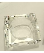 "OLEG CASSINI CRYSTAL VOTIVE CANDLE HOLDER MADE IN PRC 2-1/2 x 2-1/2"" x 1-1 NEW. - $39.75"