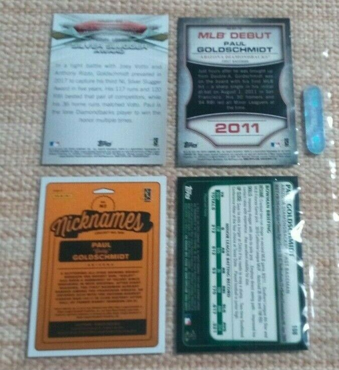 Paul Goldschmidt Cards LOT(4) Rookie /FOIL / MLB DEBUT Cards US Free Shipping