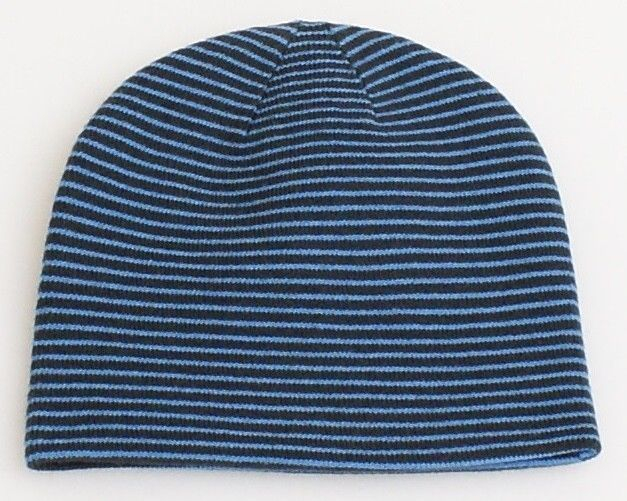 c9558e571f9 Burton Signature Reversible Blue   Gray Beanie Skull Cap Youth One Size NWT