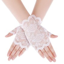 Women's Sun Protection Gloves Wedding Bridal Mittens Wrist Length Lace F... - $7.99