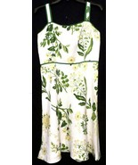 Ann Taylor LOFT Linen / Rayon YELLOW DAISY FLORAL Sundress Lined Size 8 ... - $22.90