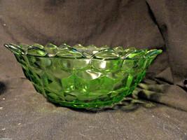 """Green Cube Depression Glass Salad Bowl 7.5"""" Mint - $19.99"""