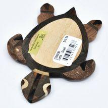 Northwoods Handmade Wooden Parquetry Sea Turtle Sculpture Figurine image 6