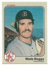 1983 Fleer #179 Wade Boggs, Boston Red Sox, Rookie - $6.45
