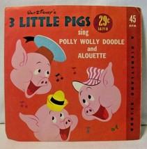 1962 45 RPM Record Walt Disney's 3 Little Pigs sing Polly Wolly Doodle &... - $7.43