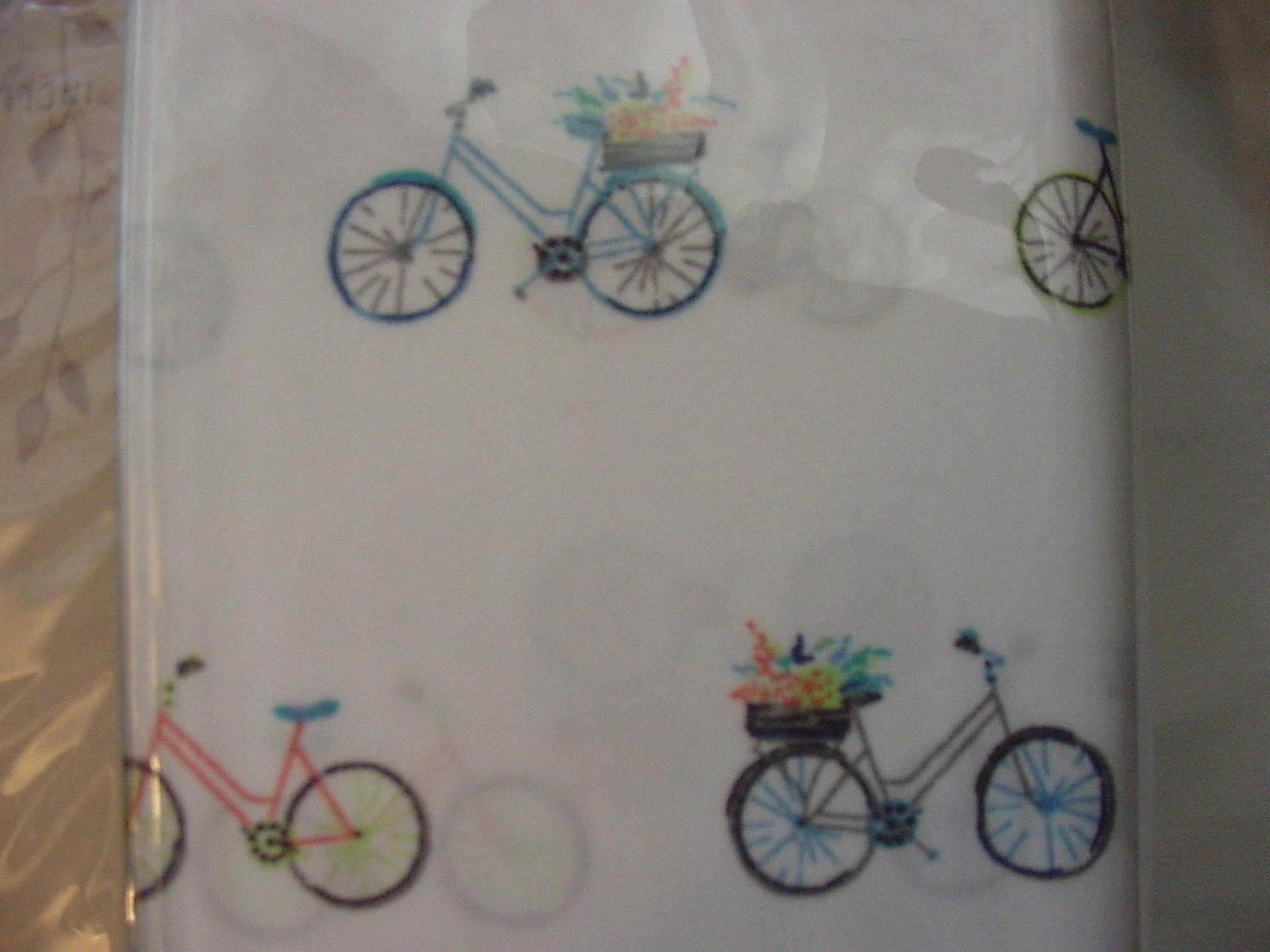 Alex and Zoe Bicycles and Flower Baskets Microfiber Sheet Set Twin