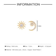 New Gold Color Copper Material AAA Zircon Earrings for Women High Quali... - $13.55