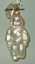 Department 56 Snowbaby Blown Glass Orn with Sash & Extra Star Ornament - $15.43