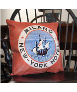 SALE / Nautical MILANO new - york HOTEL design canvas decor pillow / nice - $14.01