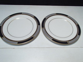 "2 Noritake Society Satin Bread & Butter Side Plates  ~~ 6 1/2"" - $4.95"