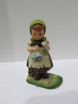 Vintage Hong Kong Hummel Inspired- Girl with Bells Figurine Ornament - $3.00