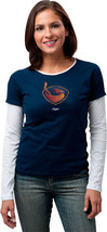 NEW REEBOK ATLANTA THRASHERS WOMENS LONG SLEEVE T SHIRT XL XLRG TISSUE NAVY - €16,59 EUR