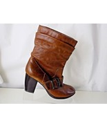 BOC LEATHER BROWN ABOVE ANKLE WOMENS BOOTS SIZE US9/UK40.9 - $34.64