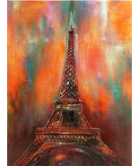"""Z.Rubin-""""À L'aube""""-Handmade Oil Painting/Gallery Wrapped Canvas/Signed/3... - $997.50"""