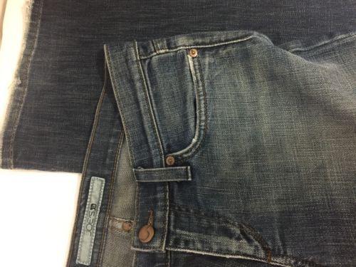 Joes Women Blue Casual Jeans Size 27W Back Pocket Logo Rip Down Style Bin78#10