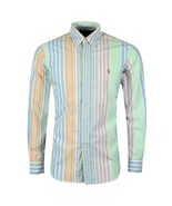 New Polo Ralph Lauren Men's Striped Classic Fit Oxford Shirt Multi Color... - $59.39
