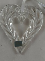 Mikasa Crystal Christmas Ornament Heart Joyous Collection Germany - $17.81