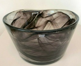 "Kosta Boda Ulrica Hayden Vallien Mine Purple Swirl Art Glass Bowl 6 3/4"" - $39.00"
