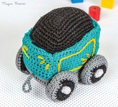 Z481 Crochet PATTERN ONLY Train Coal Car Toy Pattern - $7.50
