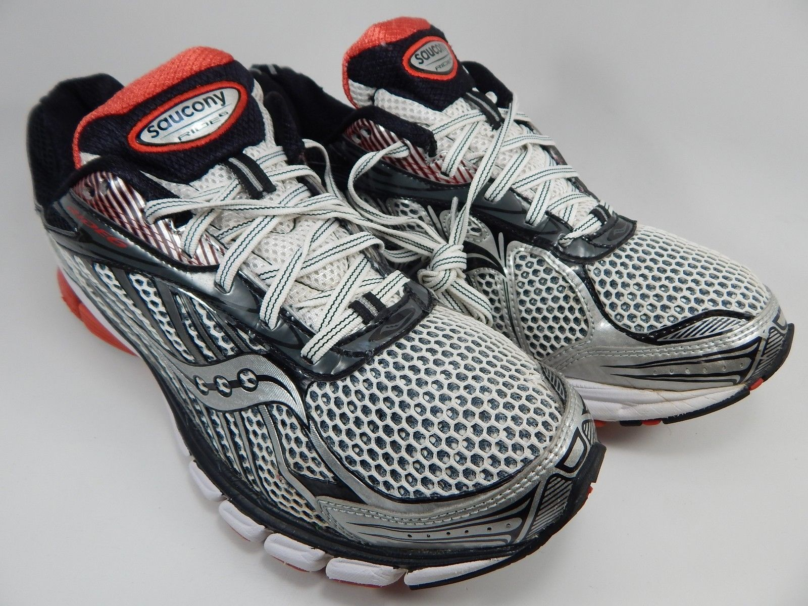 Saucony Ride 6 Running Shoes Men's Size US 12.5 M (D) EU 47 White Red S20200-1