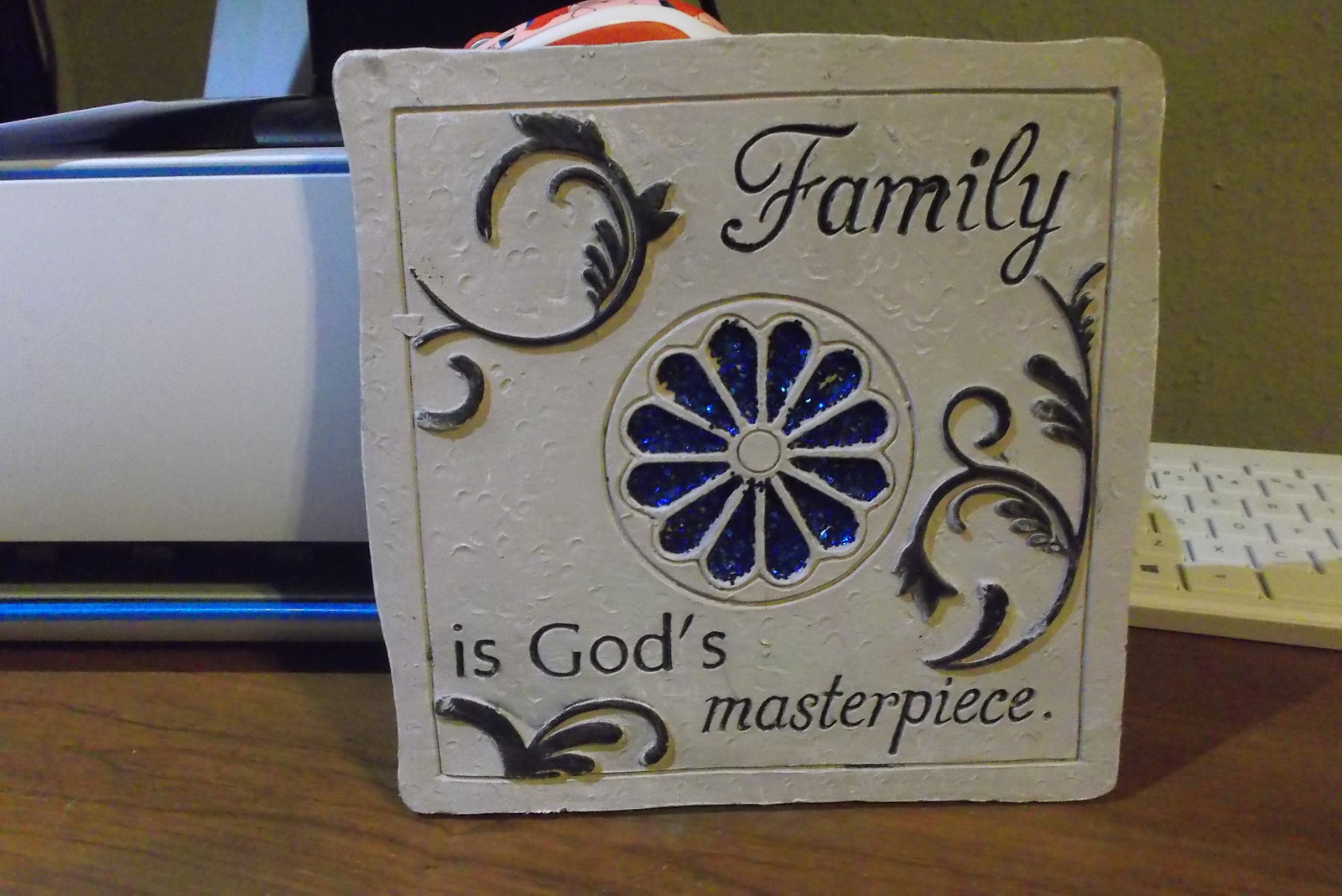 family  is  god's  masterpiece  wall  hanging