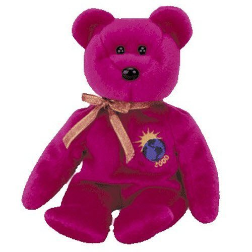 Ty Millennium the Bear Purple Beanie Baby