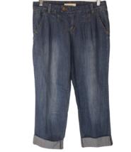 FOREVER 21 DENIM Washed Denim Capri Jean Clam Digger Jean Ankle Pants Si... - $15.71