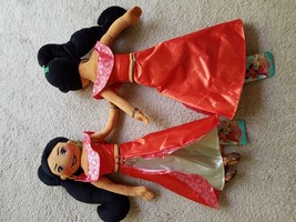 "Two New Disney Dancing Spirit Pillows Elena of Avalor Magic of Avalor Plush 22"" - $47.51"