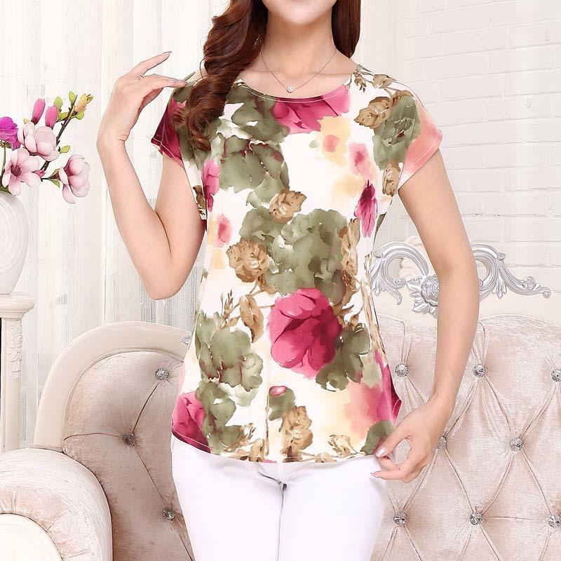 "5XL 2018 women summer tops tees ladies short t shirt Women""s Boat anchor t-shirt image 3"