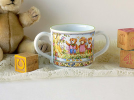 Royal Worcester Wooster Bear Child's Cup. Teddy Bear Cup. Vintage Baby G... - $20.00