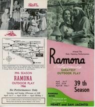 1966 Ramona Bowl Outdoor Play Brochure Hemet San Jacinto California Acting - $10.00