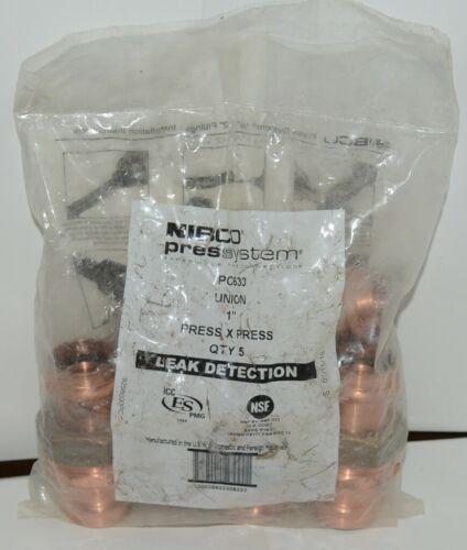 Nibco 9256600PC PC633 Wrot Copper 1 Inch Union Quantity 5