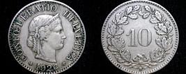 1926 Swiss 10 Rappen World Coin - Switzerland - $14.99