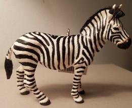 Custom Made Wild Safari Zebra Christmas Holiday Ornament #2 - $20.00