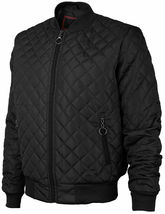 Men's Lightweight Ring Zipper Quilted Water Resistant Slim Bomber Jacket JASON image 3