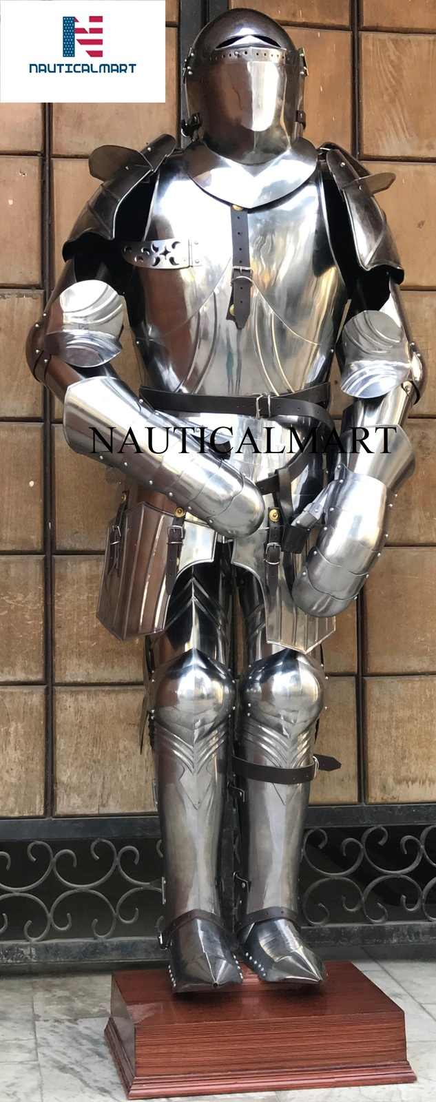 Img 5679 & Medieval Larp 16 Century Suit Of Armour Wearable Halloween Costume ...