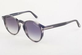 Tom Ford IAN Striped Gray / Gray Gradient Sunglasses TF591 20B IAN-02 51mm - $234.22