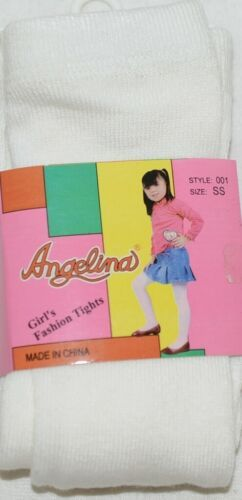 Angelina Girl's Fashion Tights Size SS Style 001 Ivory