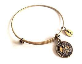 Bella Ryann St. Jude Gold Charm Bangle Bracelet