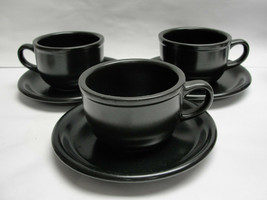 THREE (3) STUDIO NOVA China - REFLECTIONS/MIDNIGHT (all black) - CUP & S... - $24.95