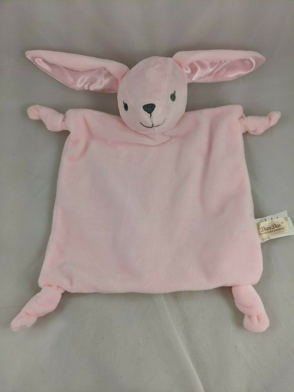 Primary image for Dan Dee Pink Rabbit Lovey Bunny Security Blanket Plush Rattle Stuffed Animal Toy