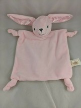 Dan Dee Pink Rabbit Lovey Bunny Security Blanket Plush Rattle Stuffed An... - $19.95