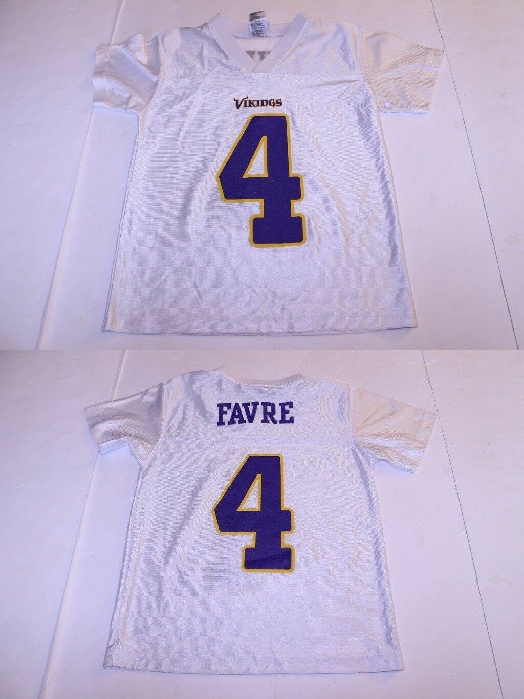 Primary image for Youth Minnesota Vikings Bret Favre S (8) Jersey (White) NFL Team Apparel