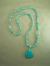 Premier Designs Turquoise Tone Beaded Necklace W/ Magnetic Removable Pen... - $31.19