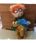 Vintage 90s Rugrats Holiday Beanbag Beanie Plush Chuckie Spike Dog Nicke... - $26.72