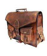 "16"" Genuine Leather messenger bag for men convertible laptop backpack sh... - $69.30"