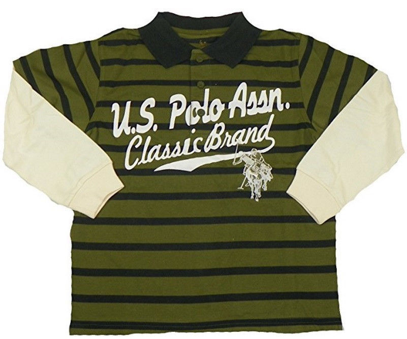 Boy's 4-7 U.S Polo Assn. Classic Brand Layered Long Sleeve Shirt Sherwood Olive
