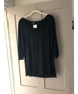 Black Top By Giuliana Sz M 3/4 Sleeves New With Out Tags Perfect Length! - $22.76